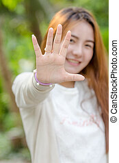 stop gesture.