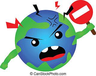 stop global warming - illustration of stop global warming