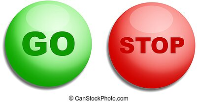 Stop & Go Buttons - Stop and go button designs.