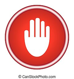 Stop hand Icon Vector.