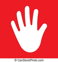 Stop hand Icon Vector. Palm hand.