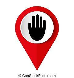 stop hand logo vector illustration