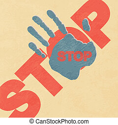 Stop hand - vector illustration
