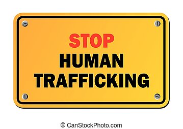 stop human trafficking - warning si - suitable for warning...