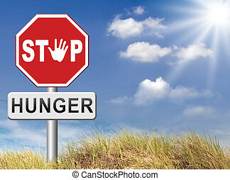 stop hunger suffering malnutrition starvation and famine...