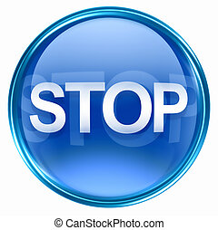 Stop icon blue