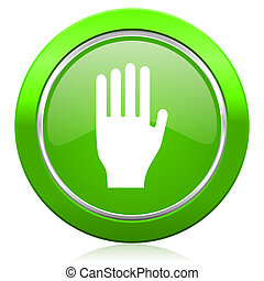 stop icon hand sign