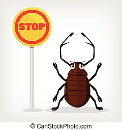 Stop insects vector