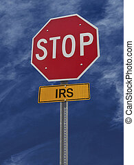 stop irs post sign