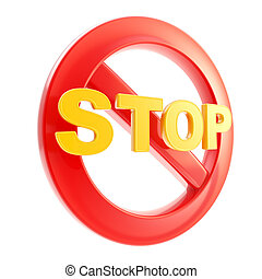 Stop is not allowed forbidden sign