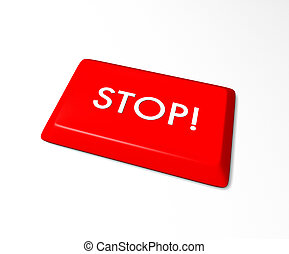 Stop Key - Isolated on white