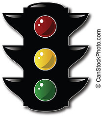 Stop Light Vector Art