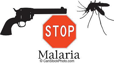 Stop malaria symbols