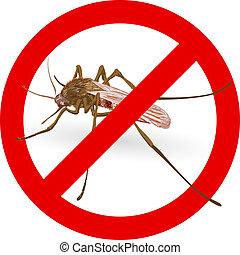 Stop mosquito sign. Vector illustration.