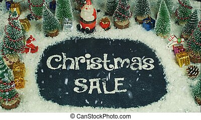 Stop motion animation of Christmas Sale