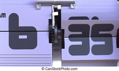 stop motion of a flip clock shot in super slow motion with the sony FS700 high speed camera