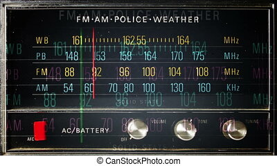 stop motion of a great retro radio with police band