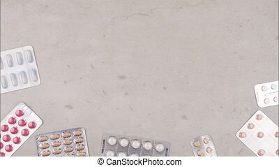 Stop motion with various drugs to promote health