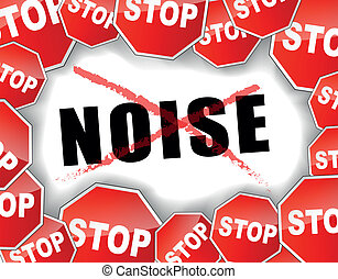 Vector illustration of stop noise concept background