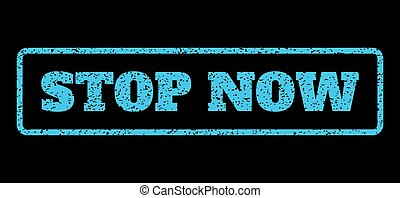 Stop Now Rubber Stamp