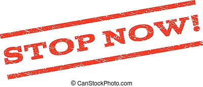 Stop Now! Watermark Stamp