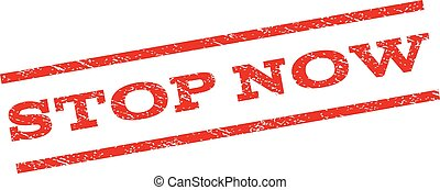 Stop Now Watermark Stamp