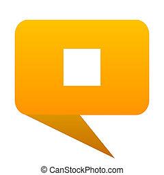 stop orange bulb web icon isolated.
