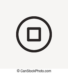 stop outline icon