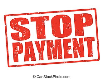 Stop payment stamp