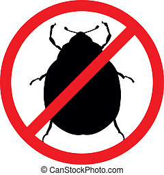 Stop pests - Potato beetle vector silhouettes isolated....
