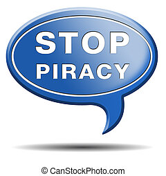 stop piracy and illegal copying copyright and intellectual ...
