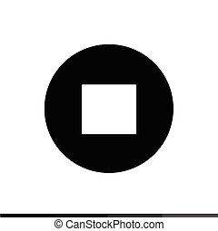 Stop, play, pause web icon illustration design