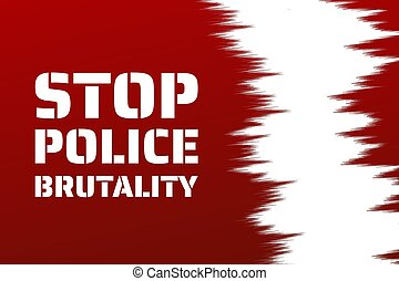 Stop police brutality concept. Template for background, banner, poster with text inscription. Vector EPS10 illustration