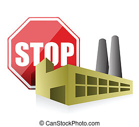 stop pollution environmental concept