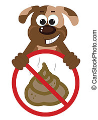 Stop Poop Sign with dog