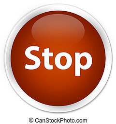Stop premium brown round button