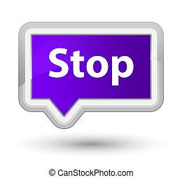 Stop prime purple banner button