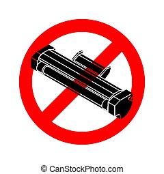 Stop Printer toner. Red road Forbidding sign. Ban ink Laser ...