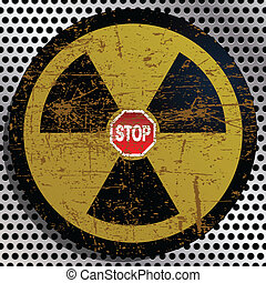 Stop Radiation - Illustration stop radiation as a symbol of...