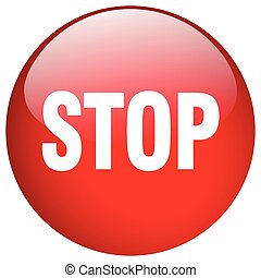 stop red round gel isolated push button
