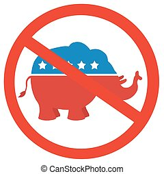 Stop Republicans Circle Label