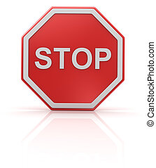 Stop road sign