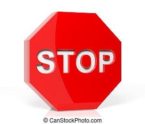 Stop sign 3D render