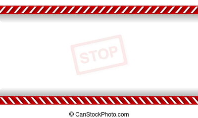 Stop sign and danger tape video animation