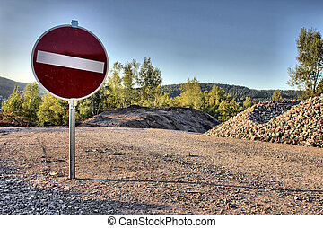 stop sign as hdr picture