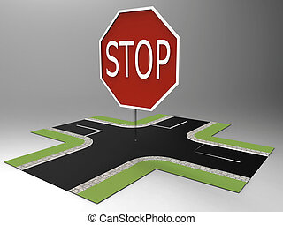 Stop sign at intersection