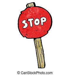 stop sign cartoon