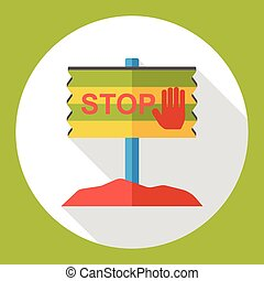 stop sign flat icon