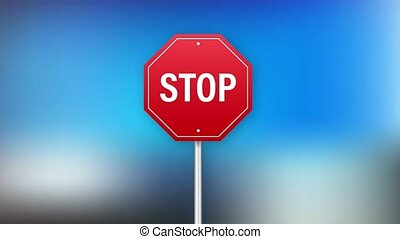 Stop sign for banner design. Information sign. stock illustration