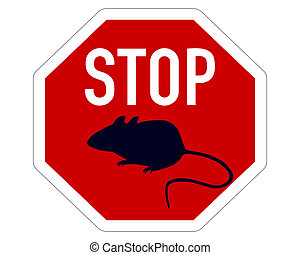 Stop sign for mice